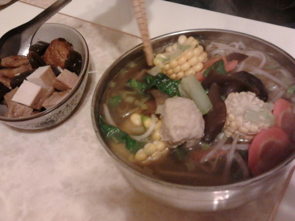 素食~蔬菜湯麵~