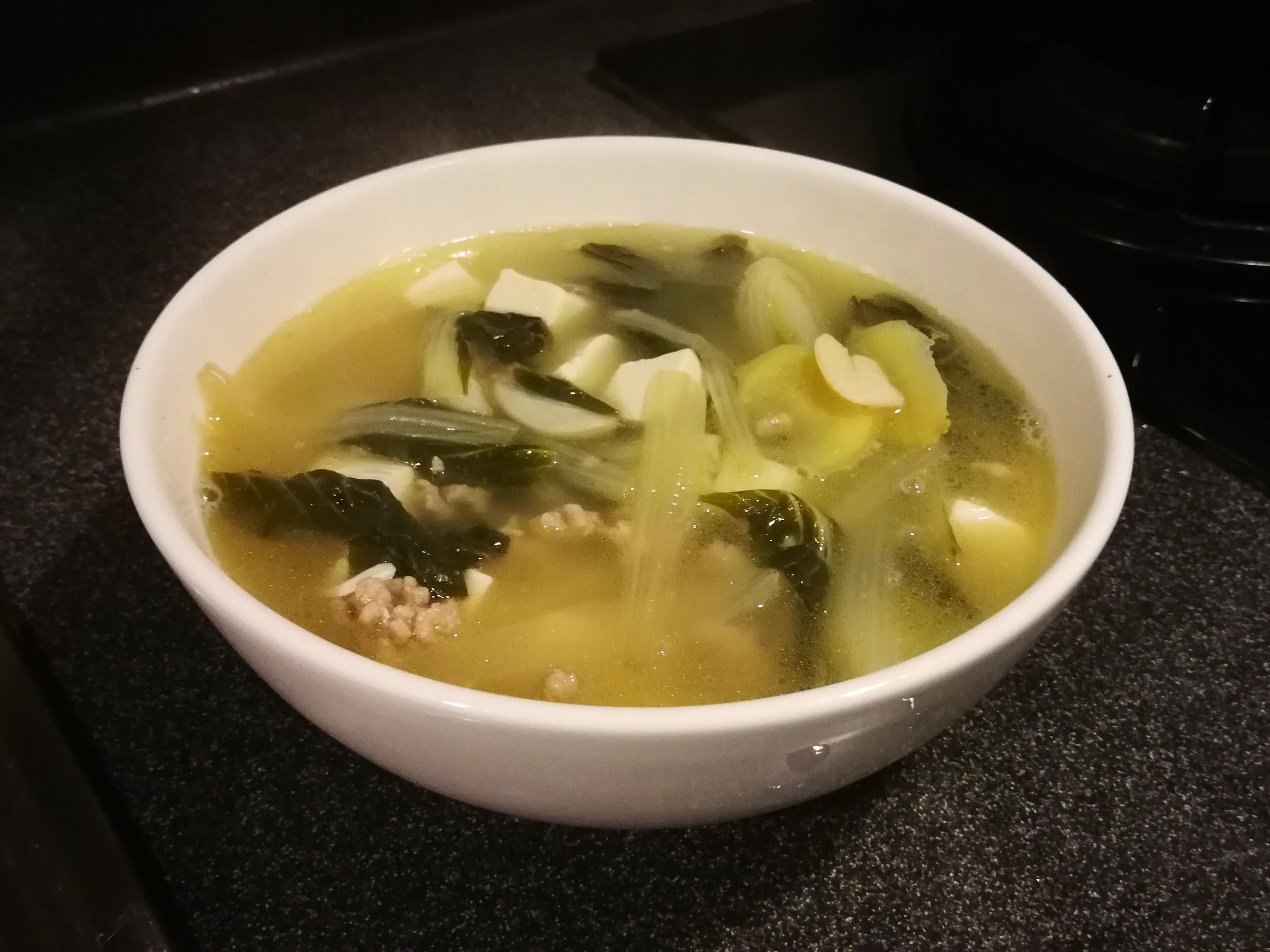 白菜肉碎湯
