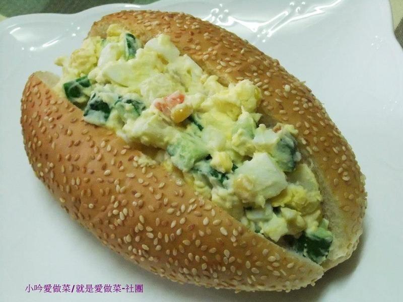 小吟愛做菜~艇堡蔬果蛋沙拉(6人分)