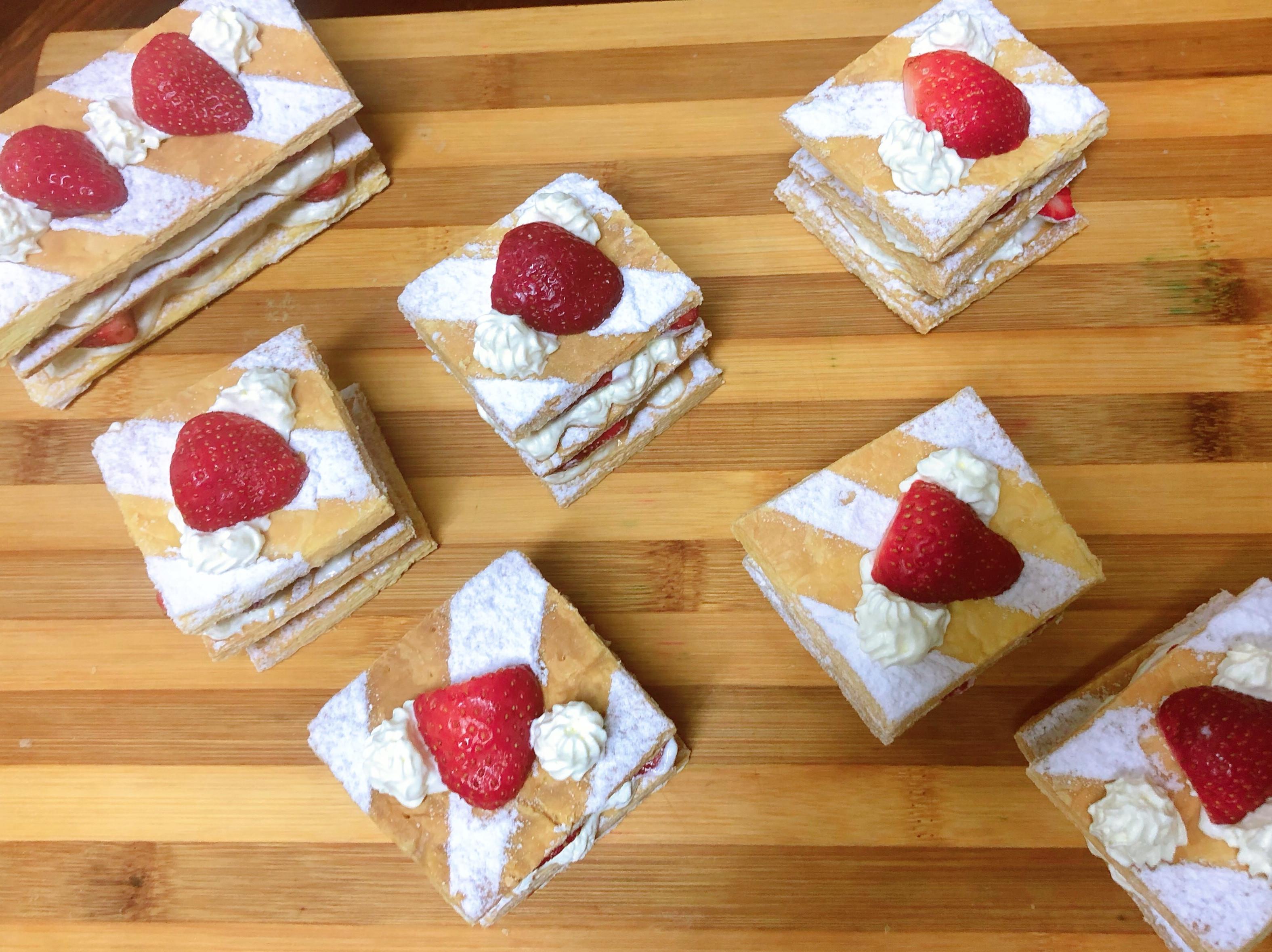 草莓千層酥(酥皮作法)