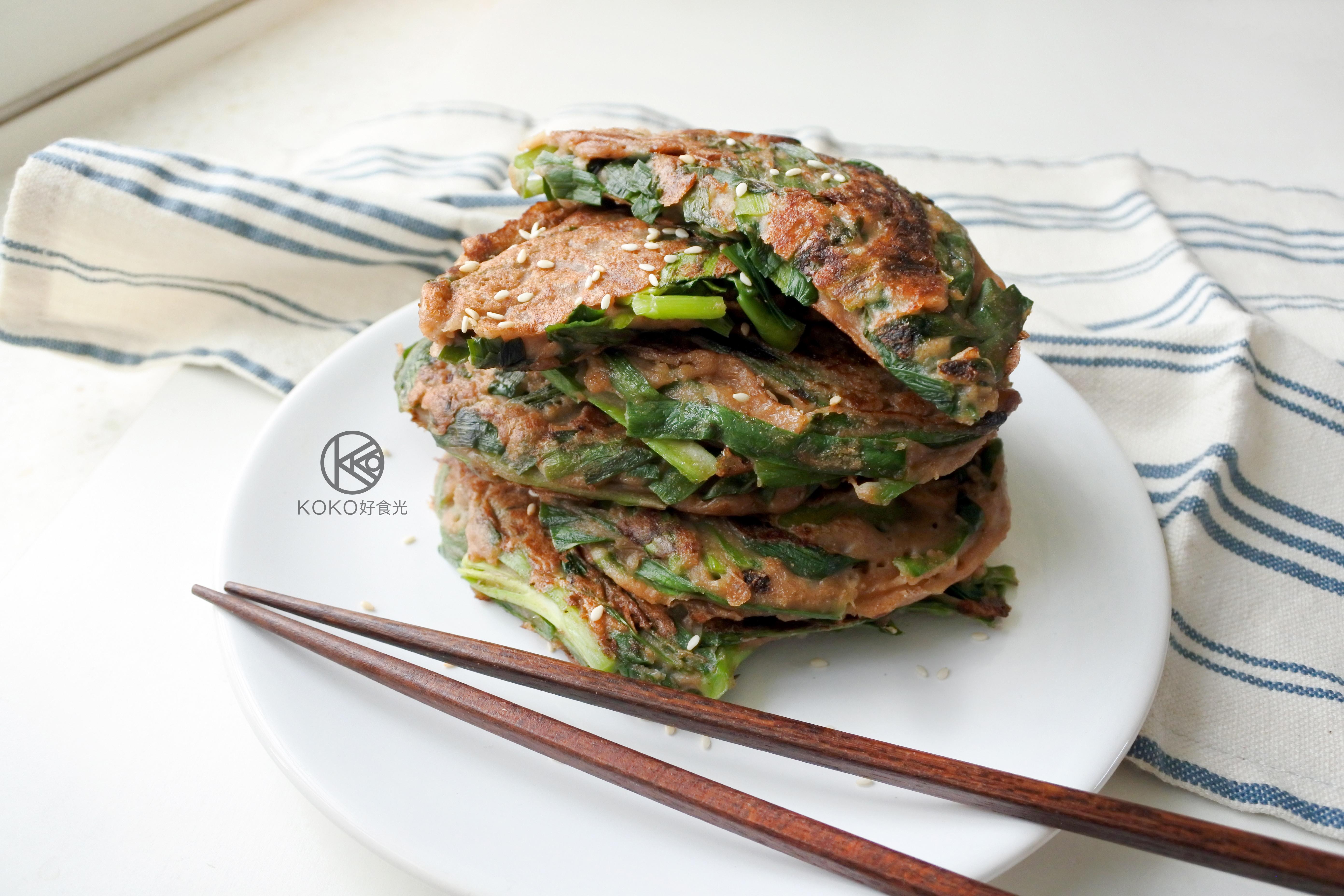 日式韭菜味噌煎餅