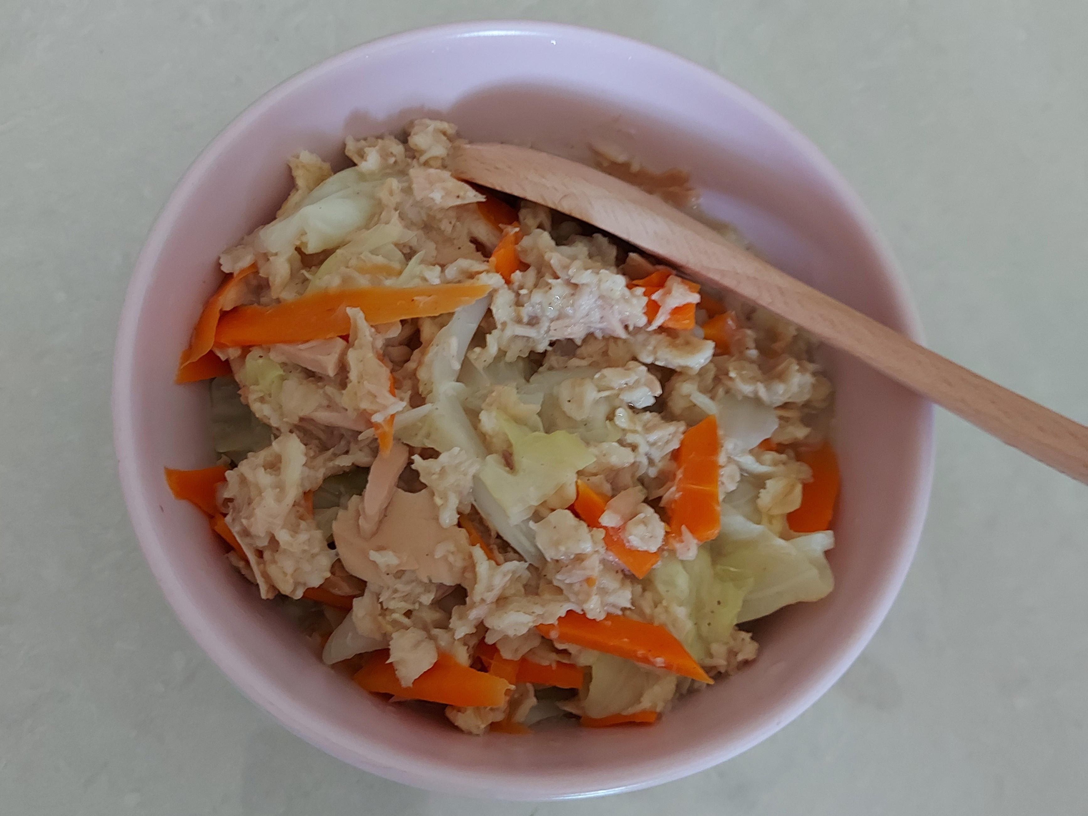 鮪魚蔬菜燕麥粥😋