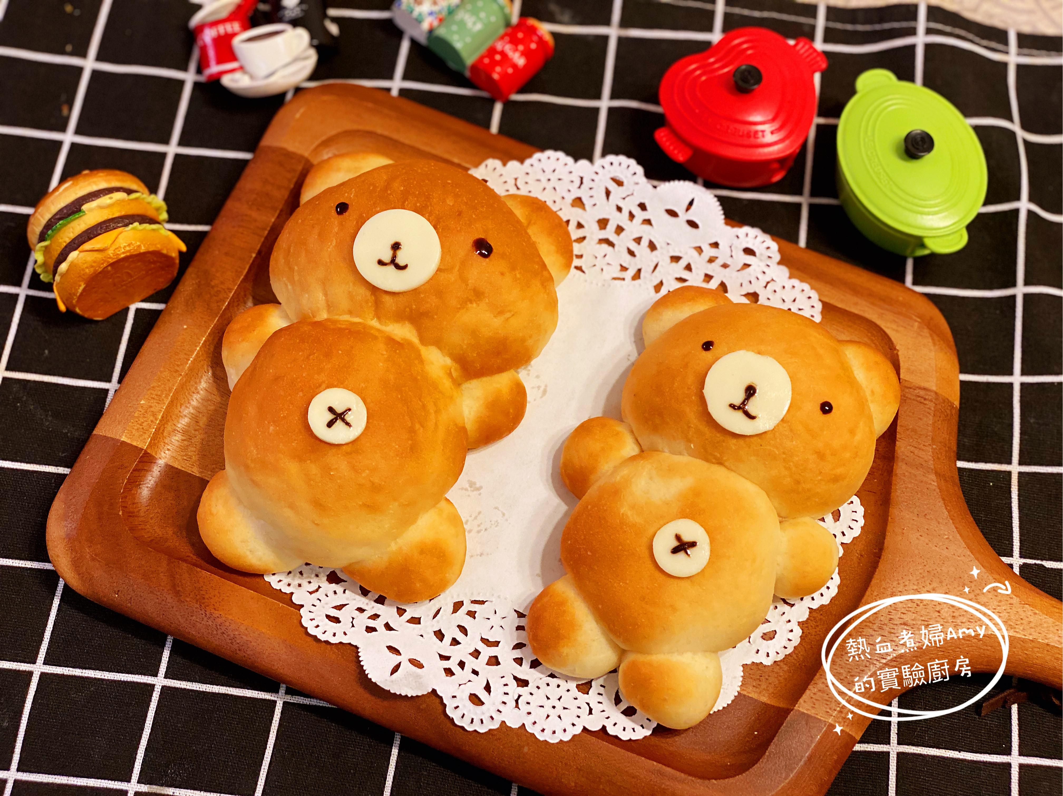 零失敗 小熊牛奶餐包+核果餐包
