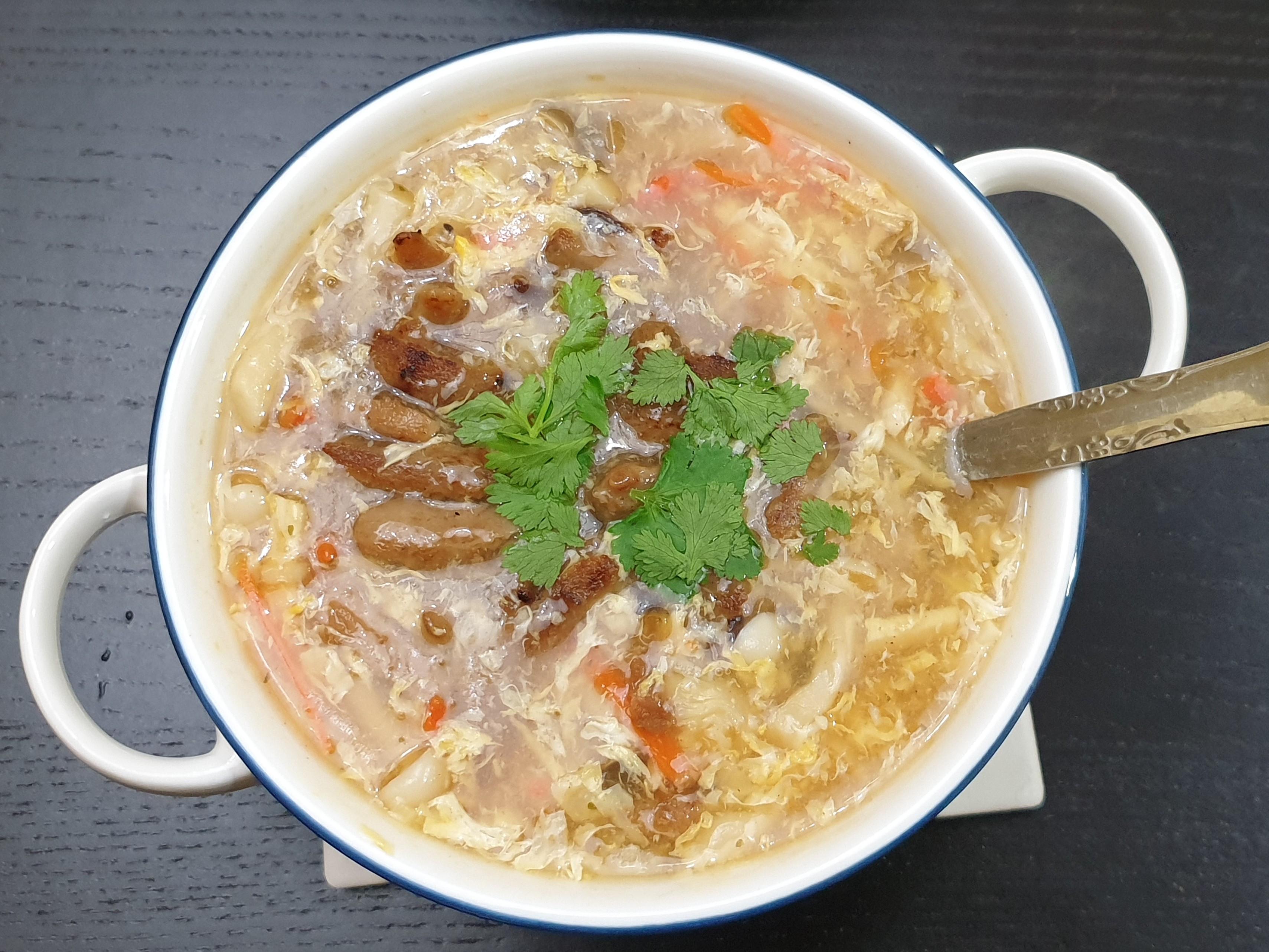 新肉絲酸辣湯