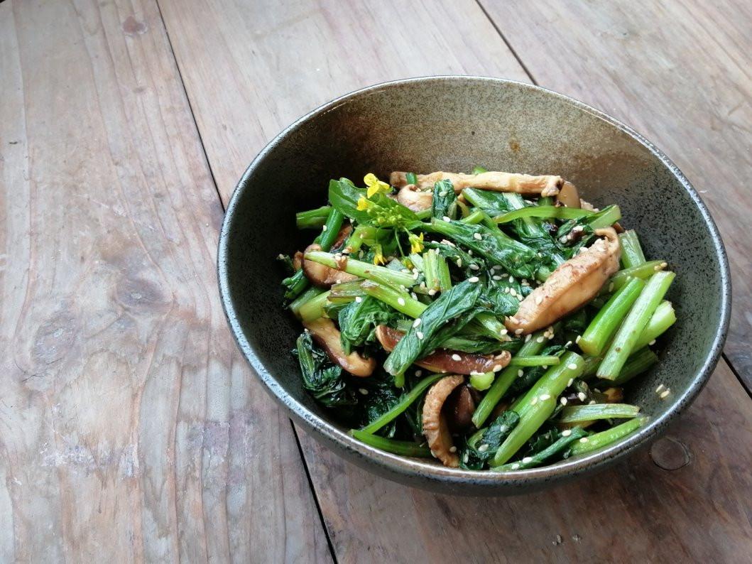 梅味噌製作,芝麻梅味噌小松菜