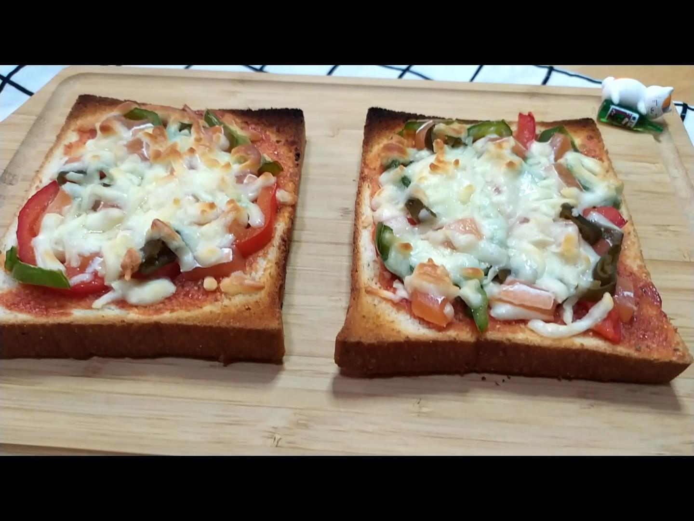 10分鐘內美味的披薩~素鮭魚剝皮辣椒披薩