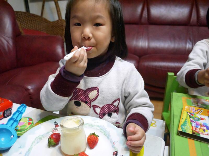 草莓煉奶布丁(電鍋版)