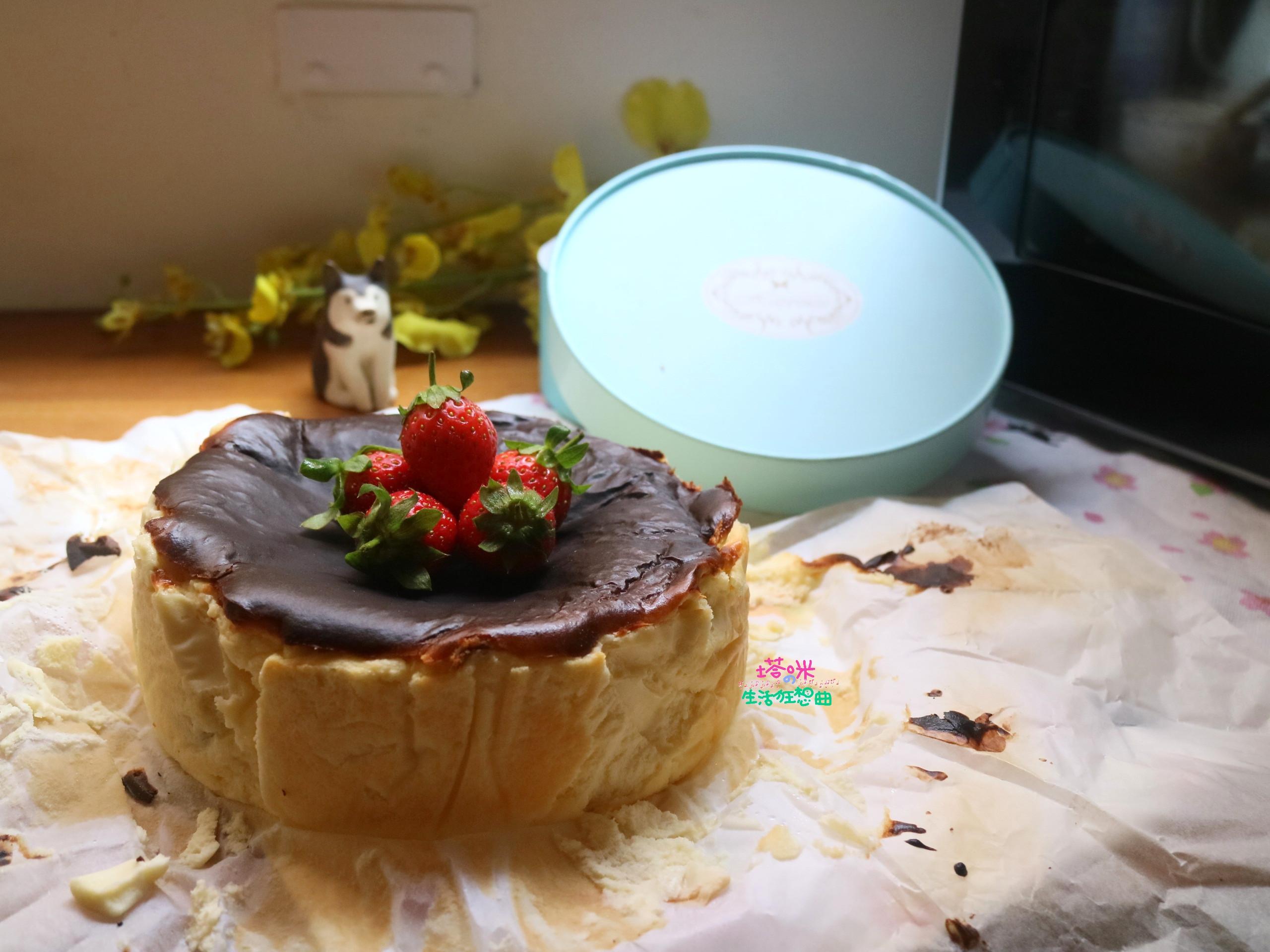 莓果巴斯克乳酪蛋糕【氣炸烤箱料理】