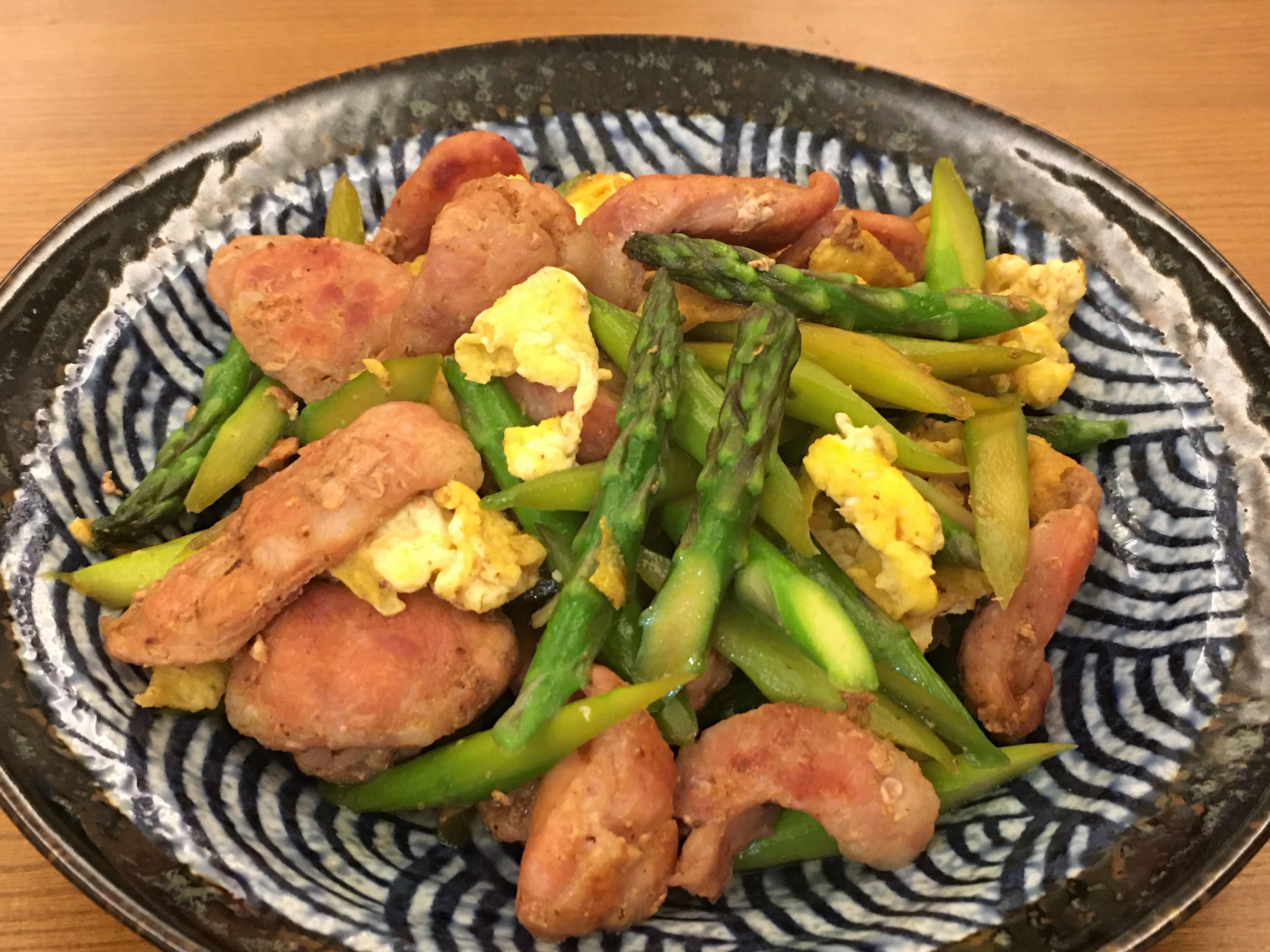 蘆筍炒香腸