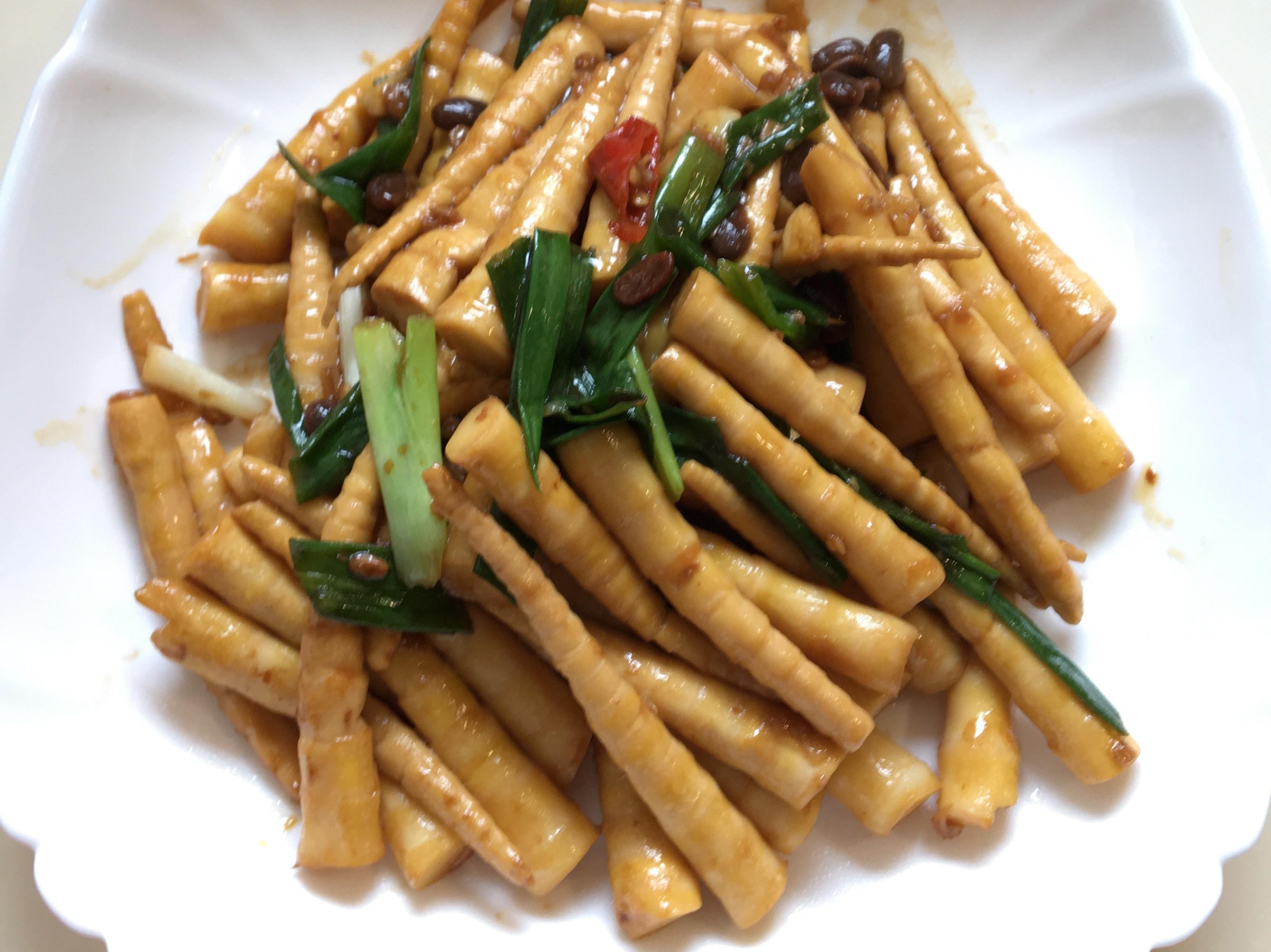 豆醬炒箭筍