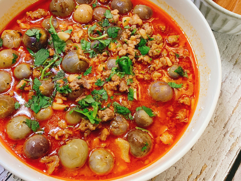 紅咖哩圓茄豬肉煲