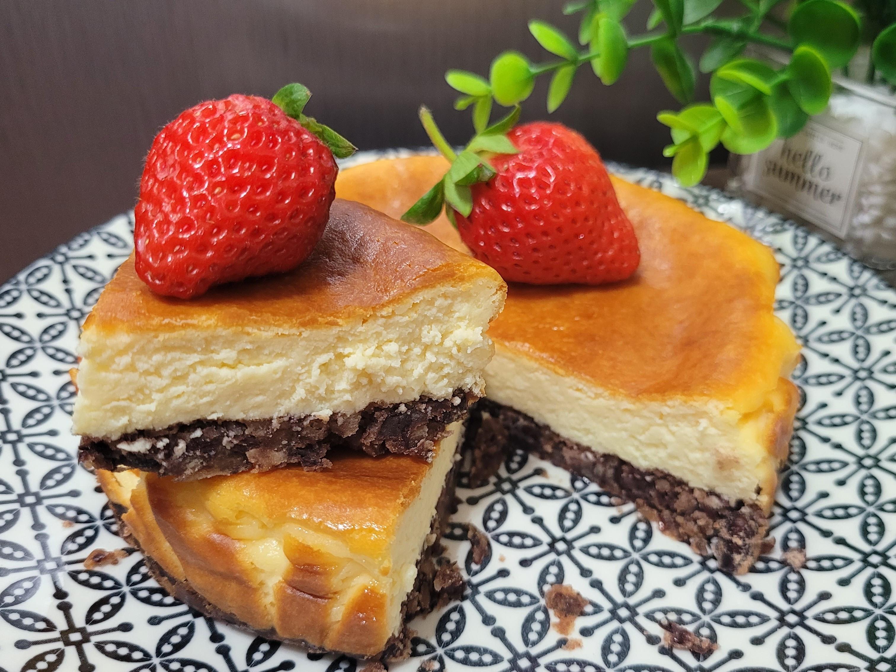 簡單的紅豆巴斯克乳酪蛋糕
