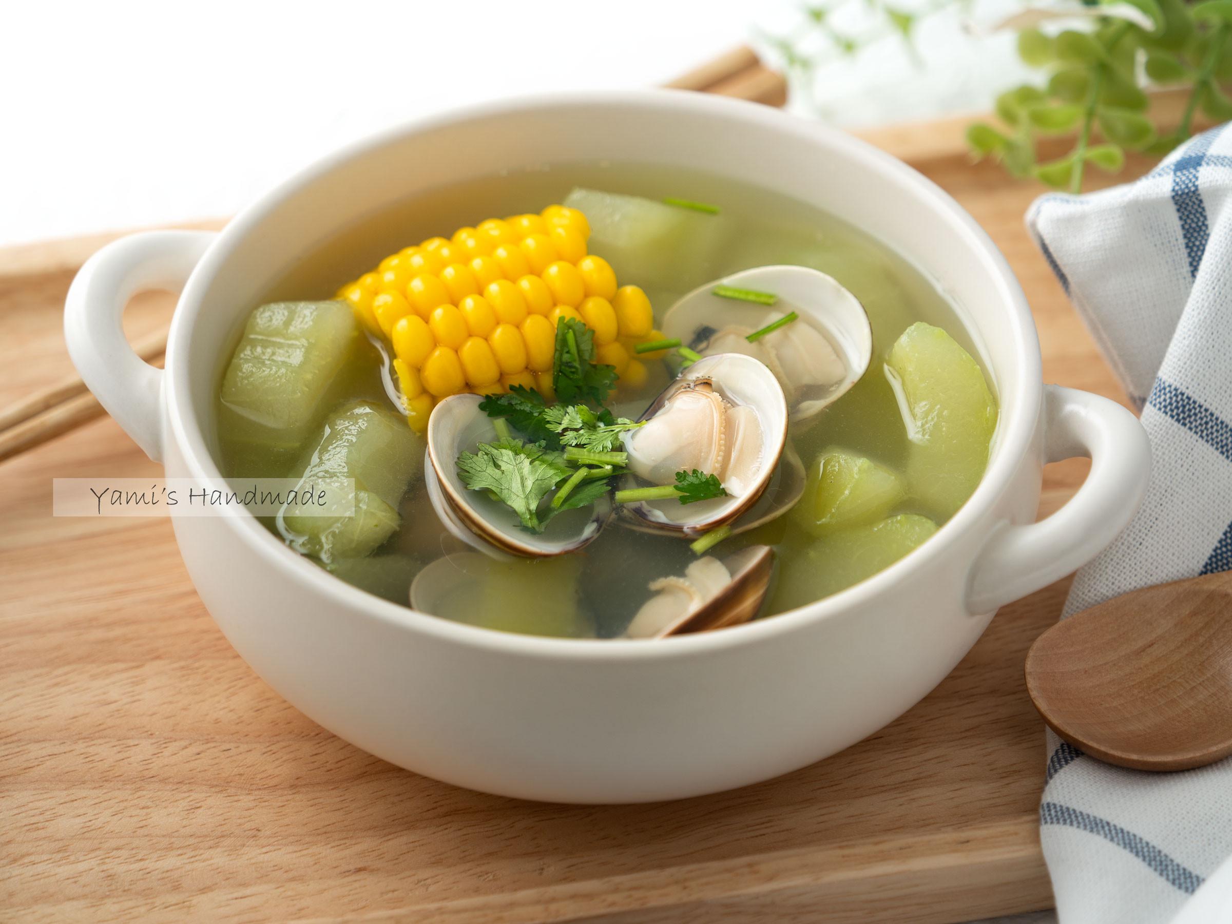 大黃瓜玉米蛤蜊湯