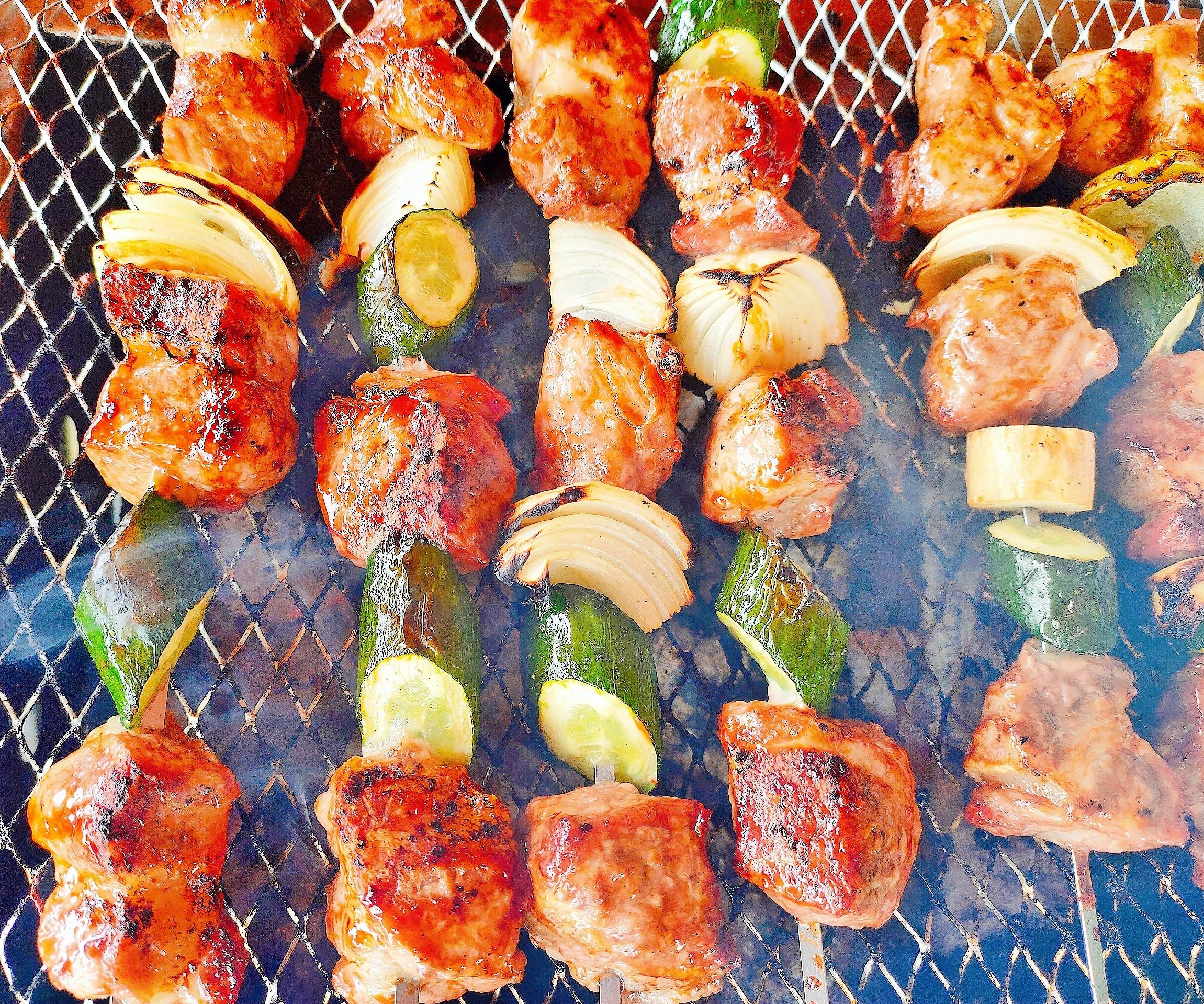 碳烤豬肉串