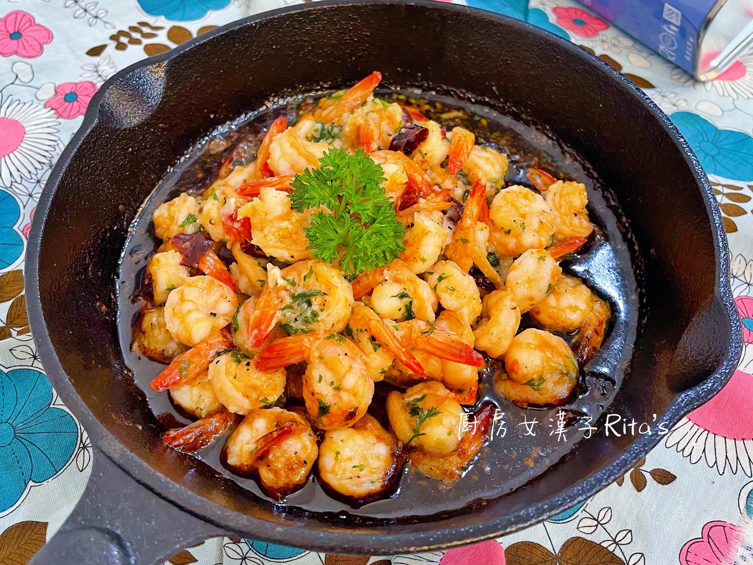 蒜辣橄欖油浸蝦