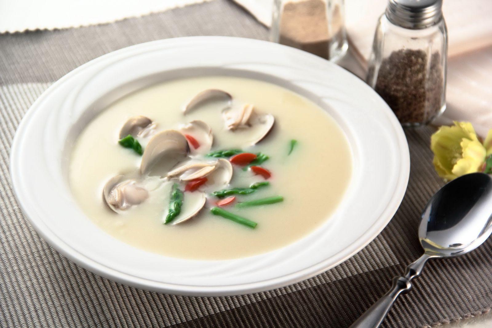 奶油蛤蜊蘆筍湯