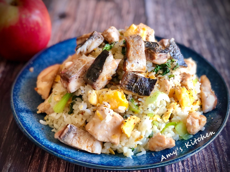 鯖魚雞丁蛋炒飯(雞胸肉)