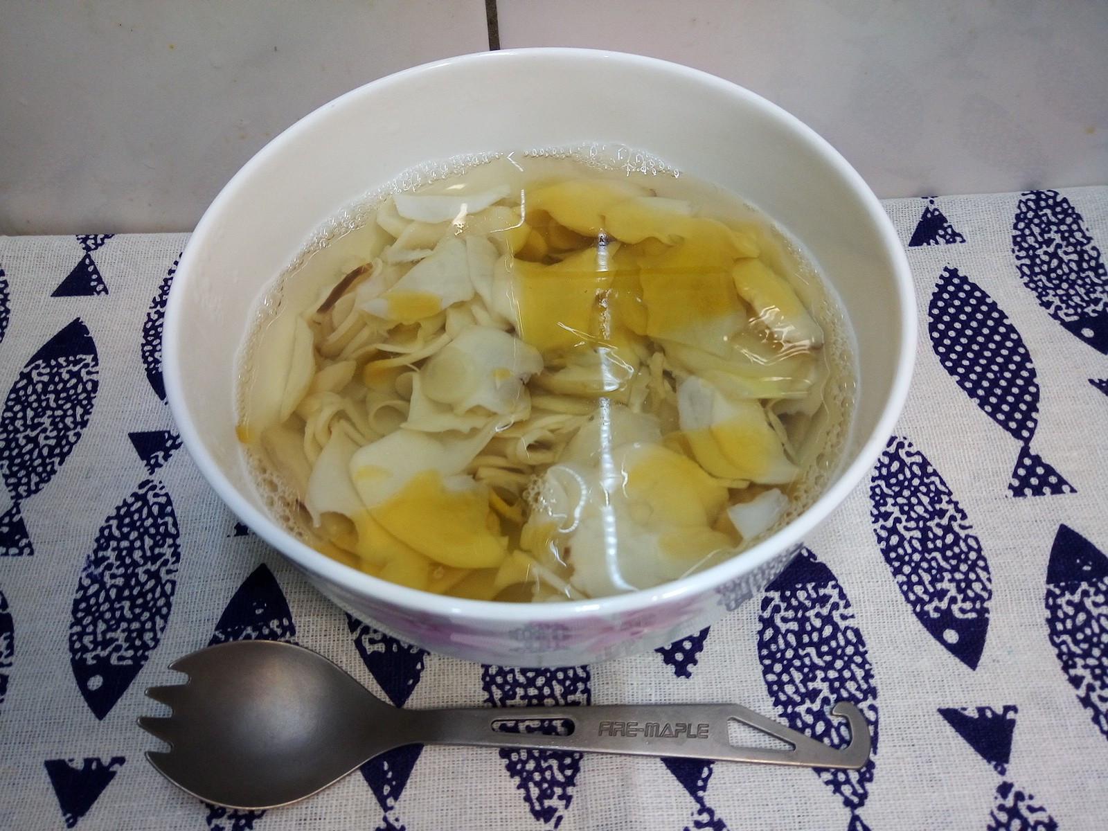[刀工菜/素食]杏鮑菇薄片湯