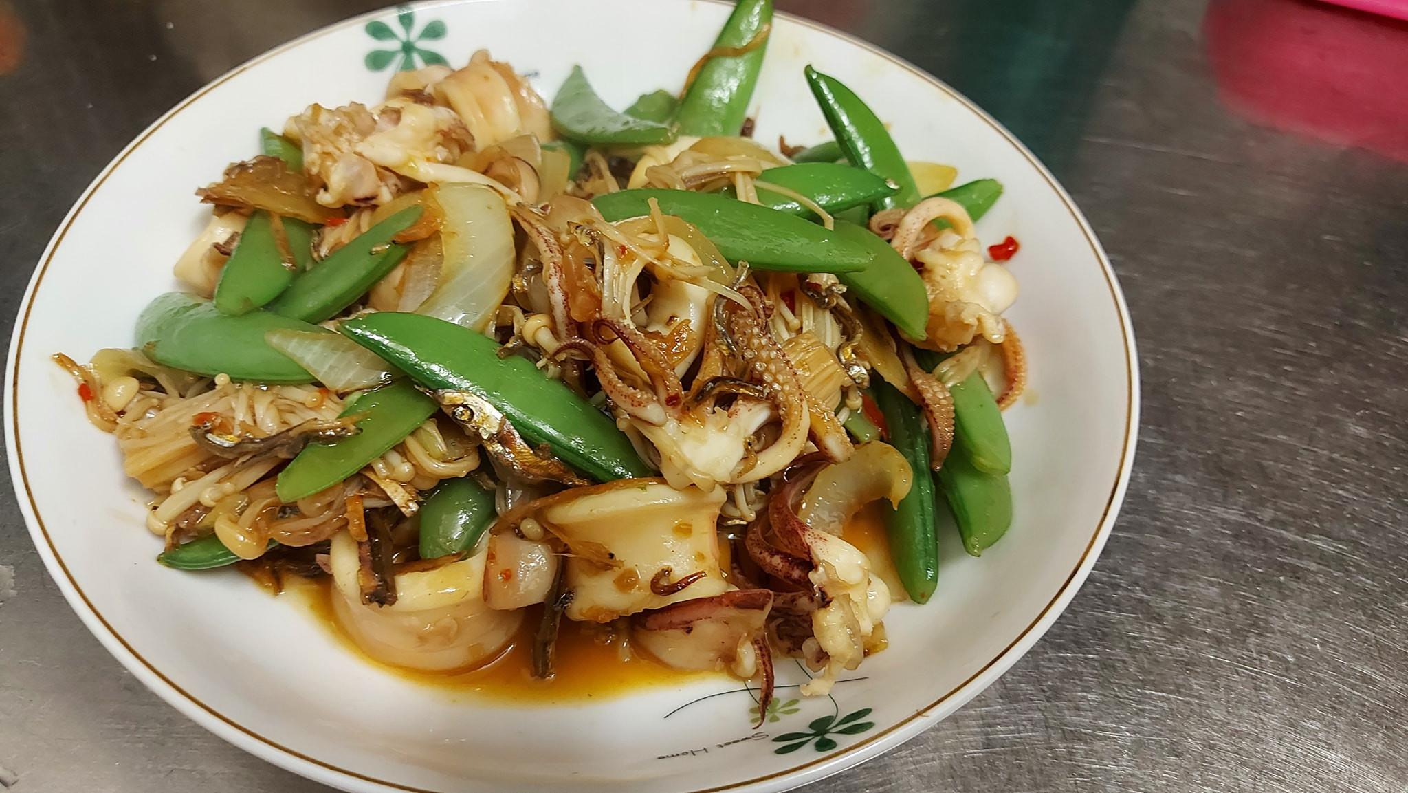 干貝醬炒蔬菜小卷