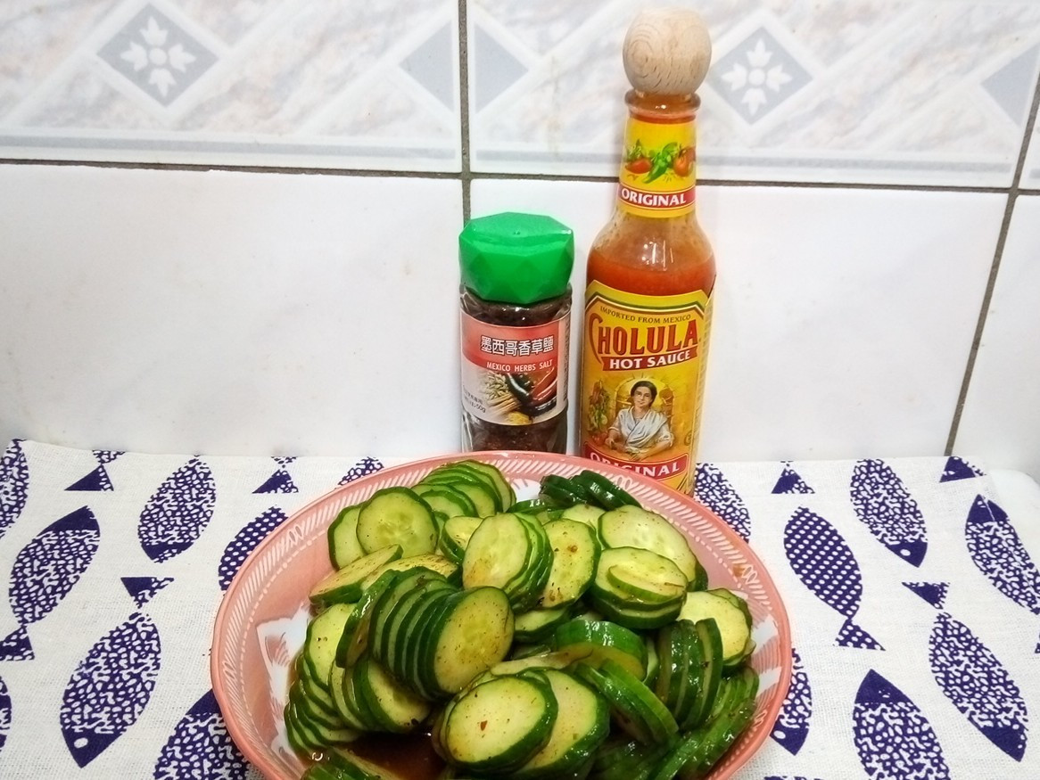 [刀工/素食]涼拌小黃瓜-墨西哥香辣風味