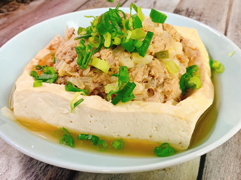 鮪魚絞肉蒸豆腐