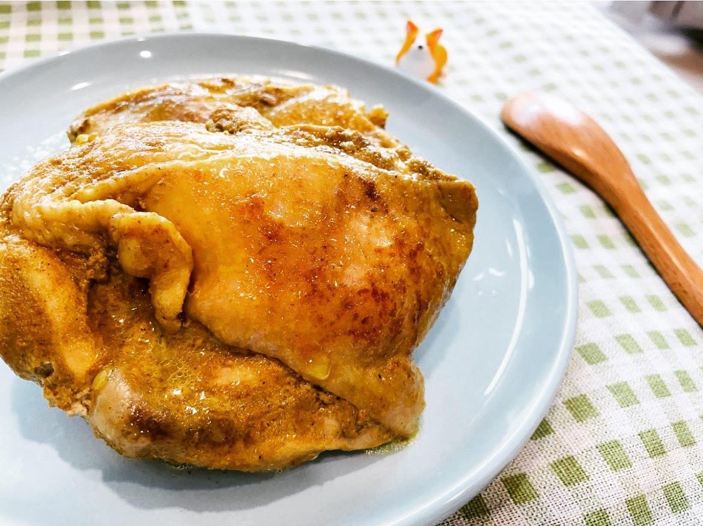 奶香咖喱雞腿排