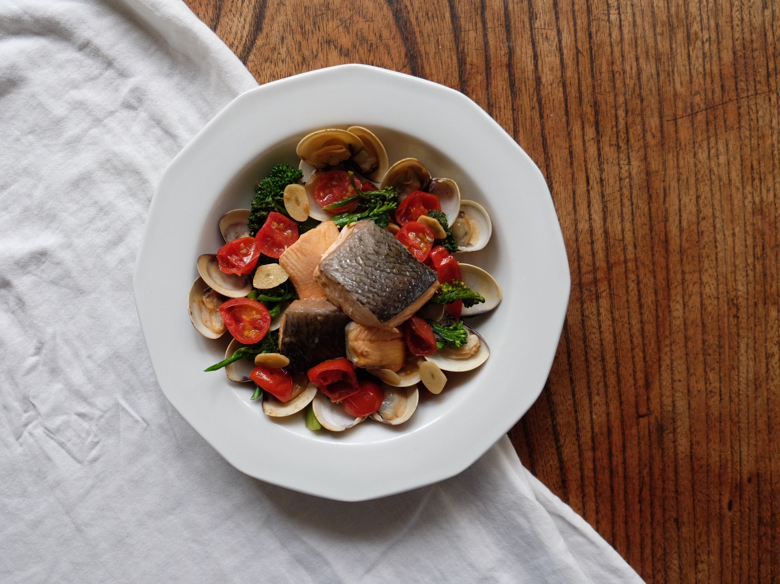 四季蓋營養#11 - 鮮蔬蛤蠣鮭魚