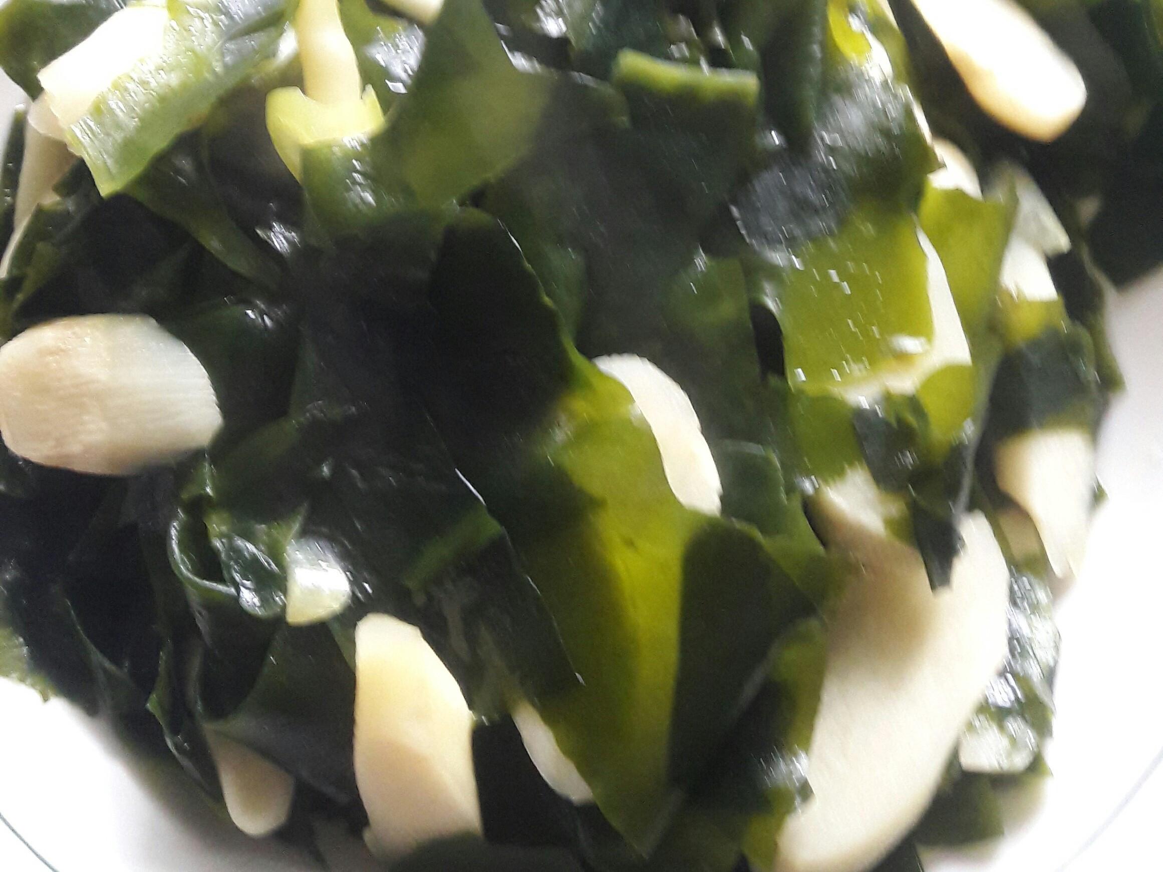 【純素】椰子油 筊白筍配海帶芽