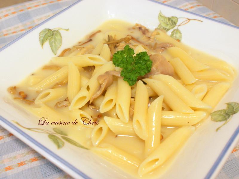 [麵食] 白汁雞肉斜管麵