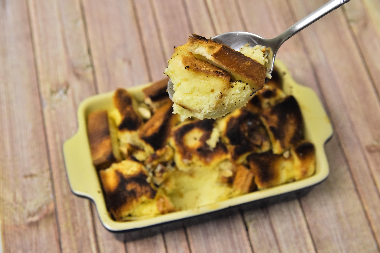 簡易甜點下午茶首選 用嘉南羊乳做布丁麵包