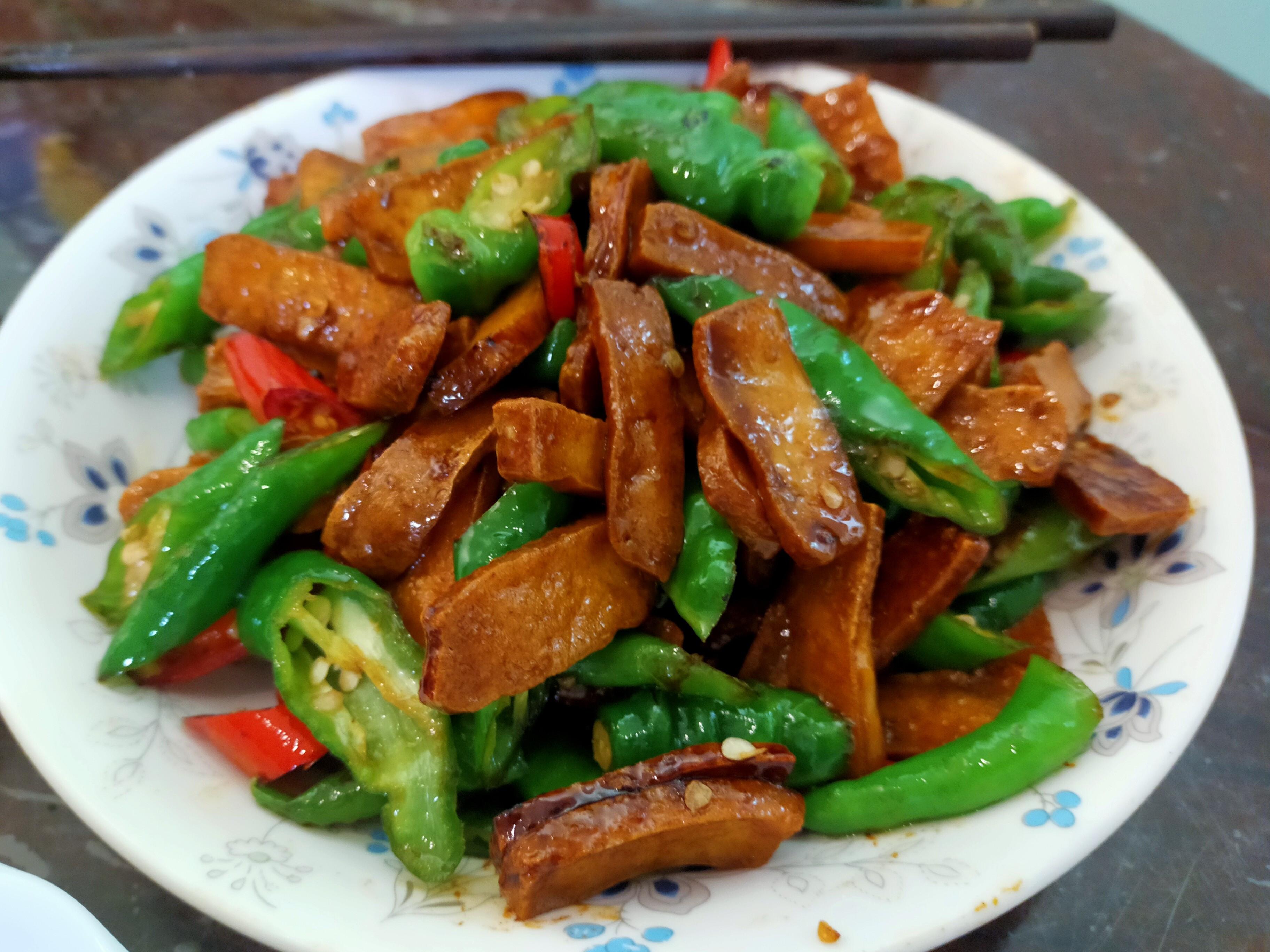 糯米椒豆干