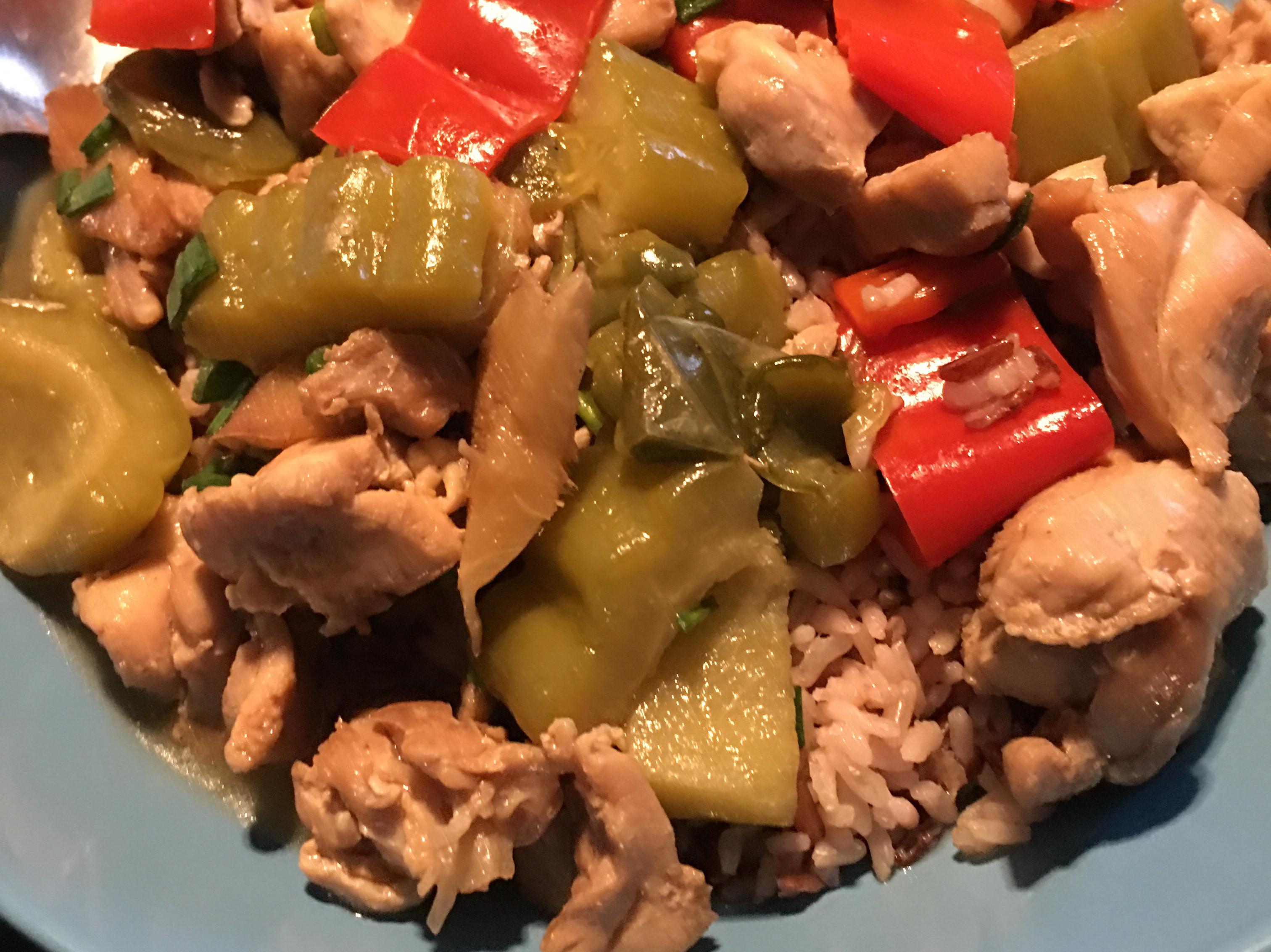 苦瓜蔥燒雞燴飯