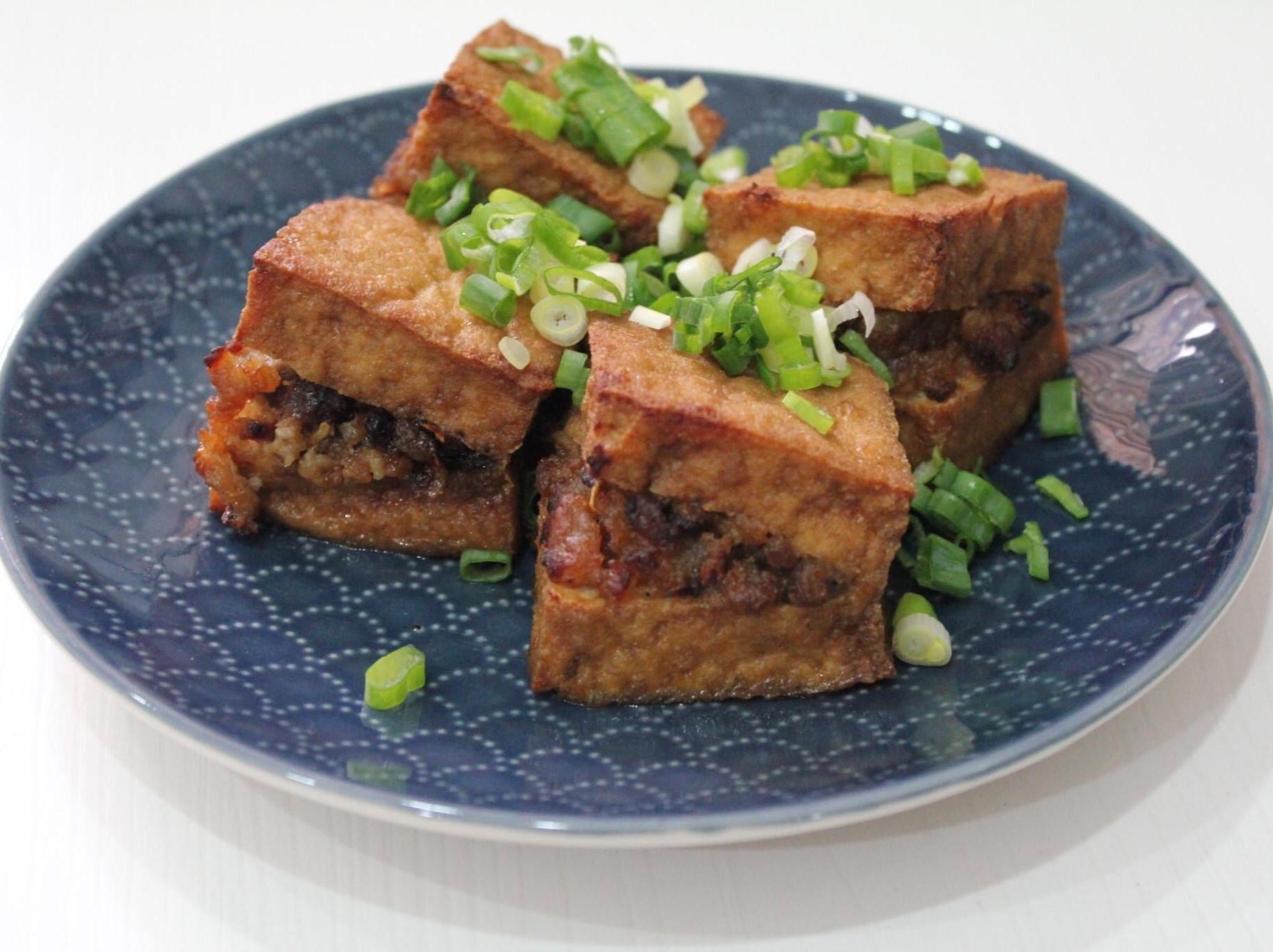 油豆腐鑲肉(厚揚げの肉詰め)