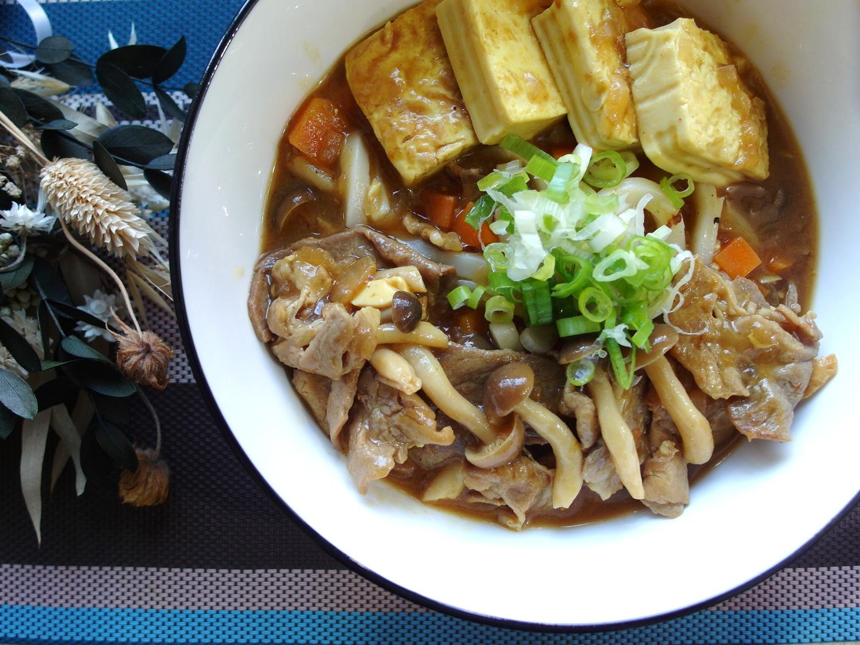 【豆腐料理】咖哩豆腐烏龍麵