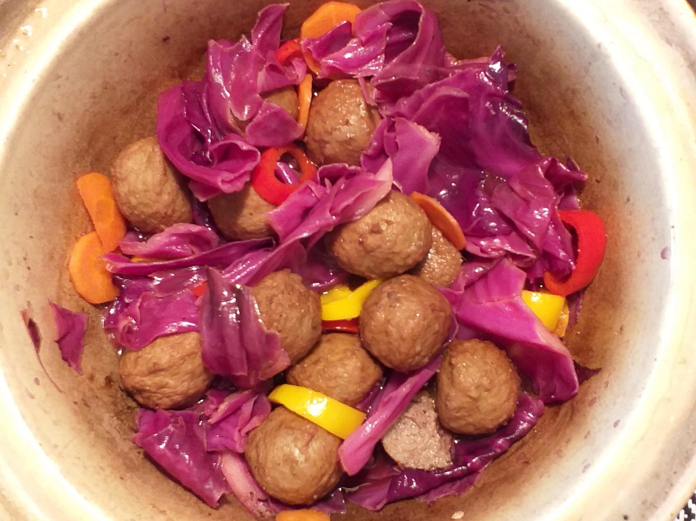 紫高麗肉丸(三分鐘上菜)!🥣