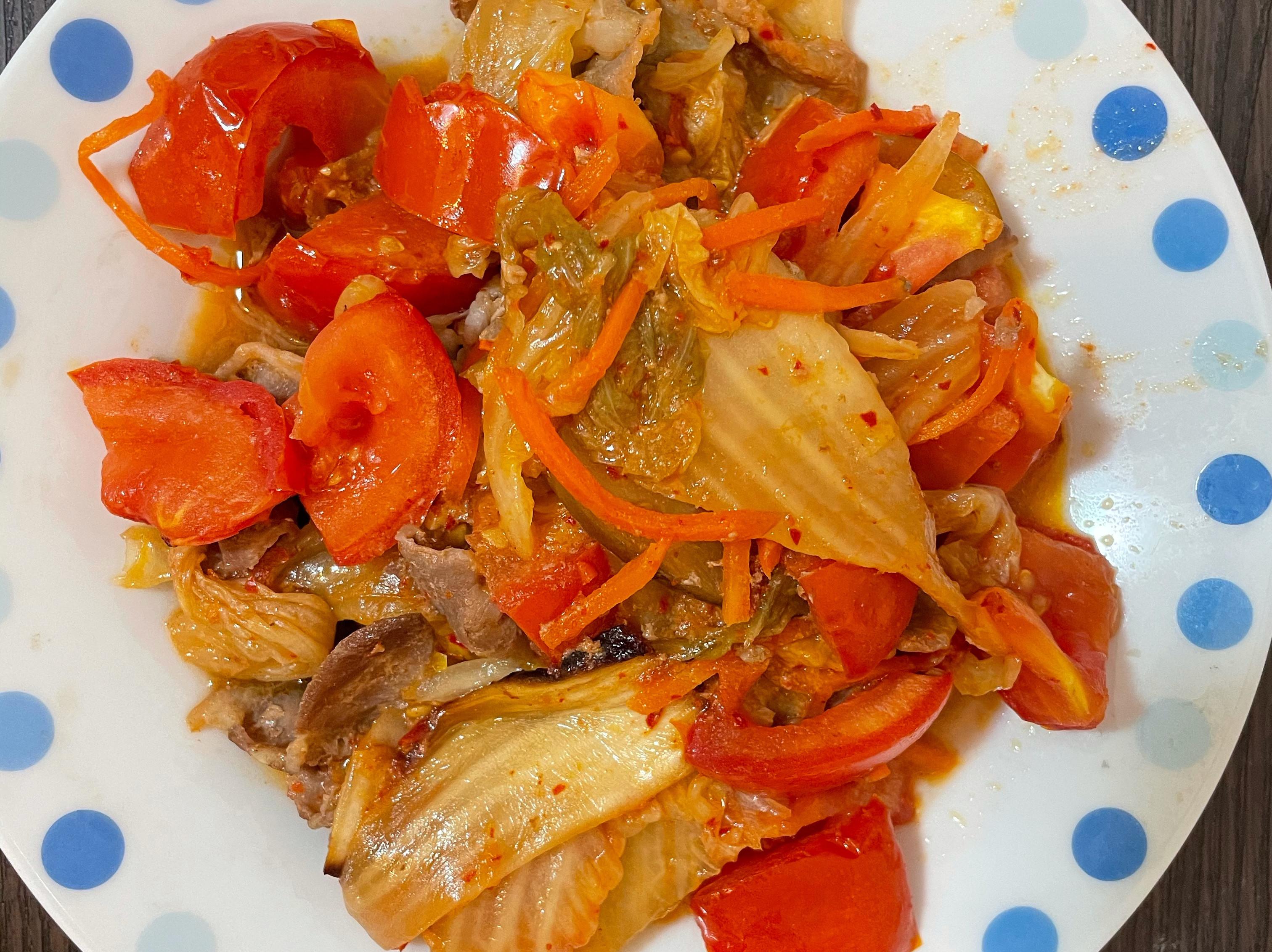 泡菜羊肉 (氣炸鍋料理)