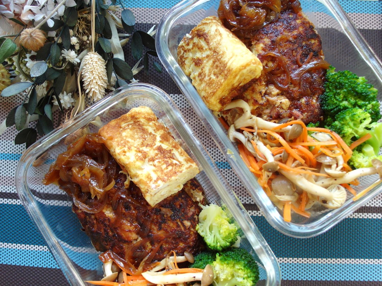 【減脂便當】鮪魚豆腐漢堡排便當