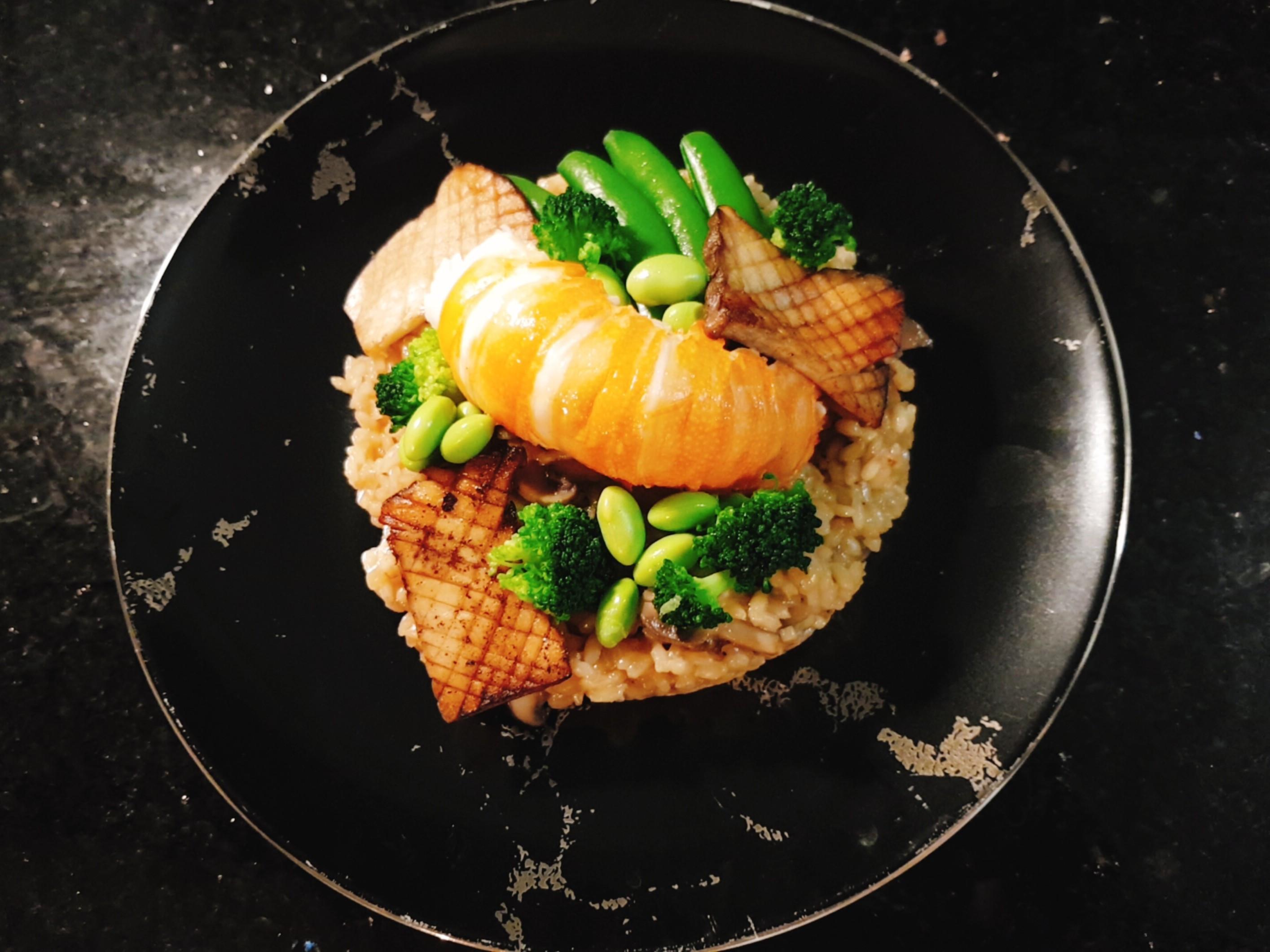 龍蝦菇菇燉飯