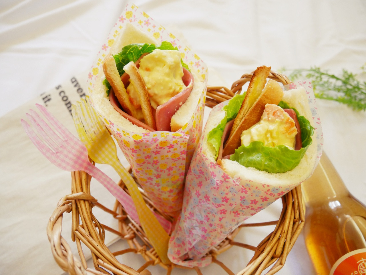 五分鐘「花束三明治」可愛到捨不得吃♡