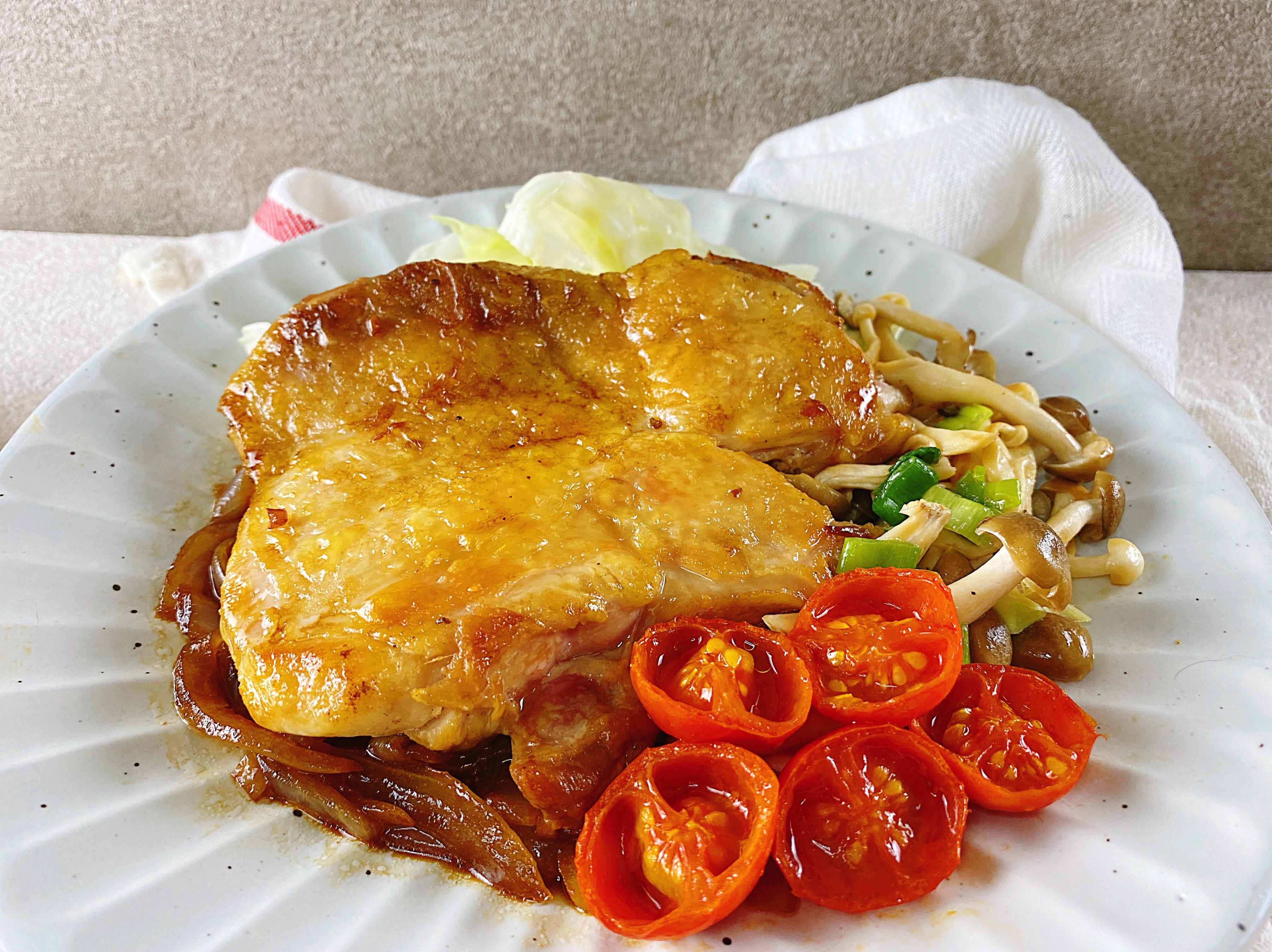 酸甜醬燒洋蔥雞腿排