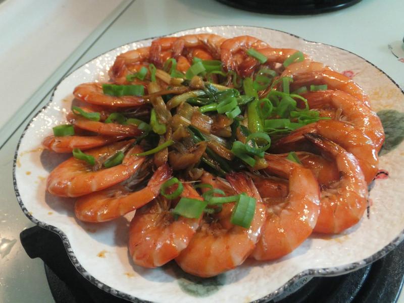 【萬家香大吟釀薄鹽醬油】之爆香蝦子