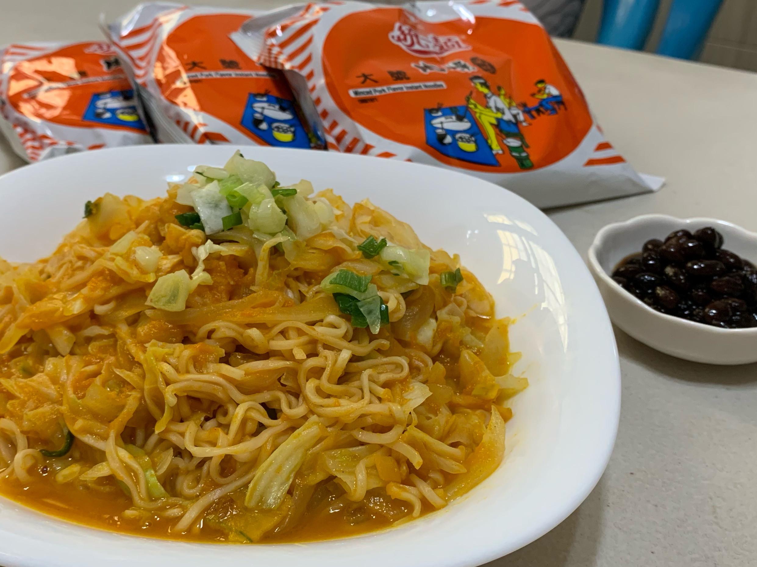 統一麵肉燥風味-南瓜蔬菜炒麵