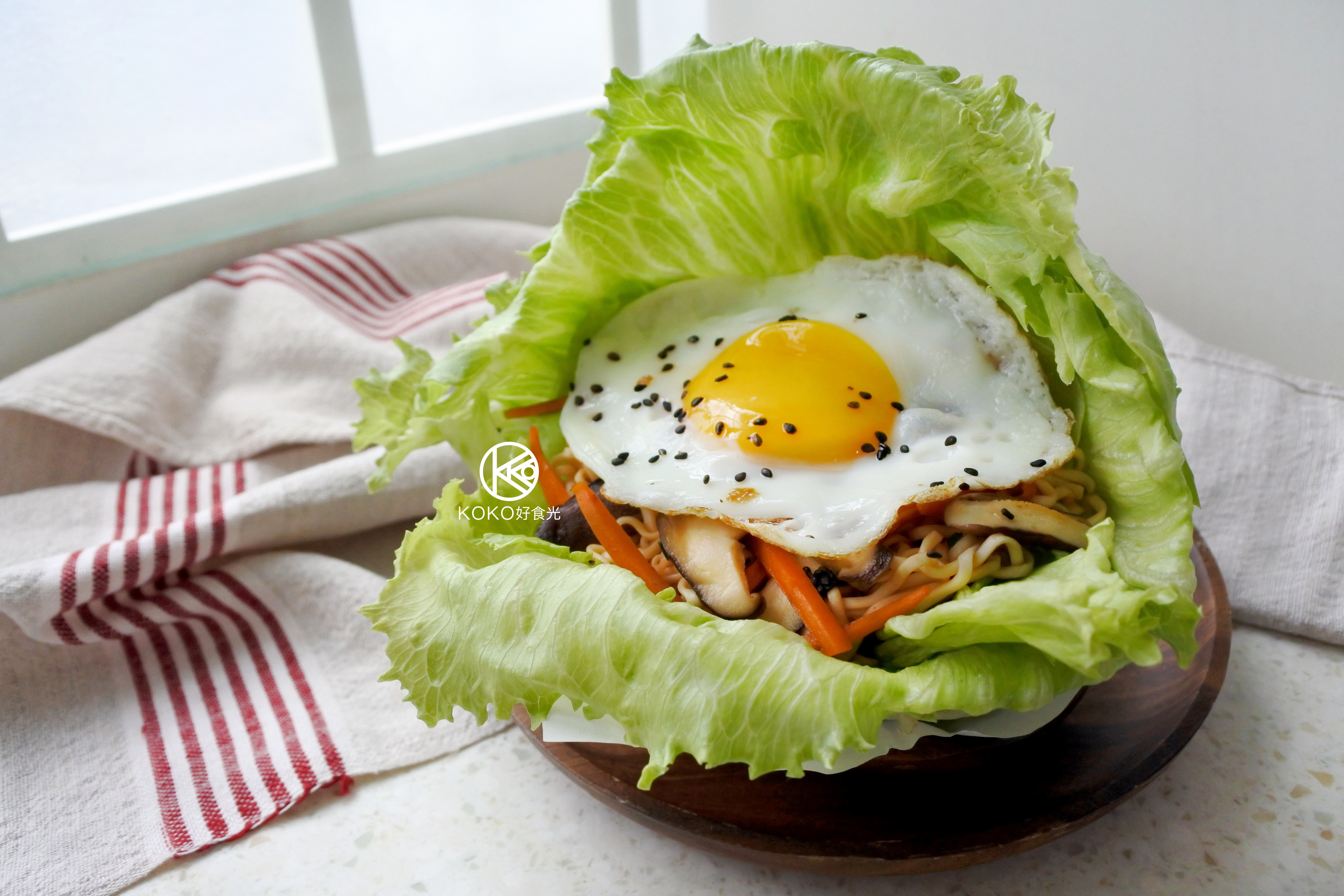 炒泡麵生菜漢堡(統一麵肉燥風味)