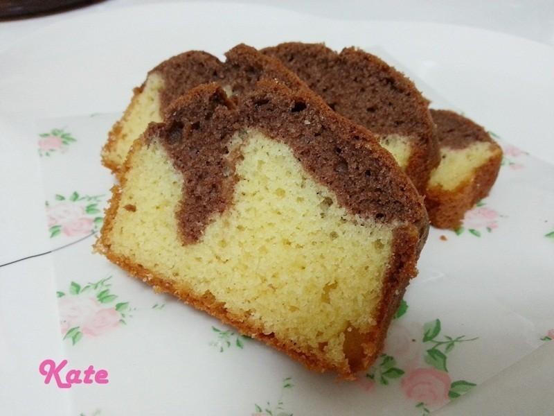 【Kate午後烘焙】簡易版!鬆餅粉大理石蛋糕