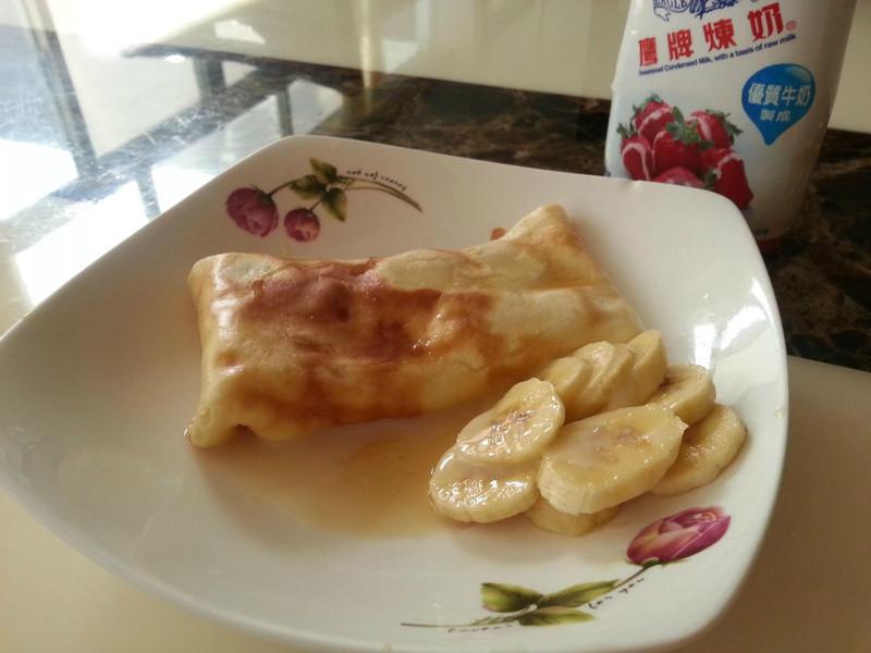 『香蕉愛鷹牌煉奶』香蕉煉乳薄餅