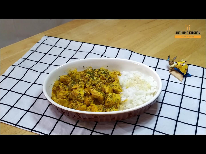 簡單快速鳳梨咖哩豆腐(純素)