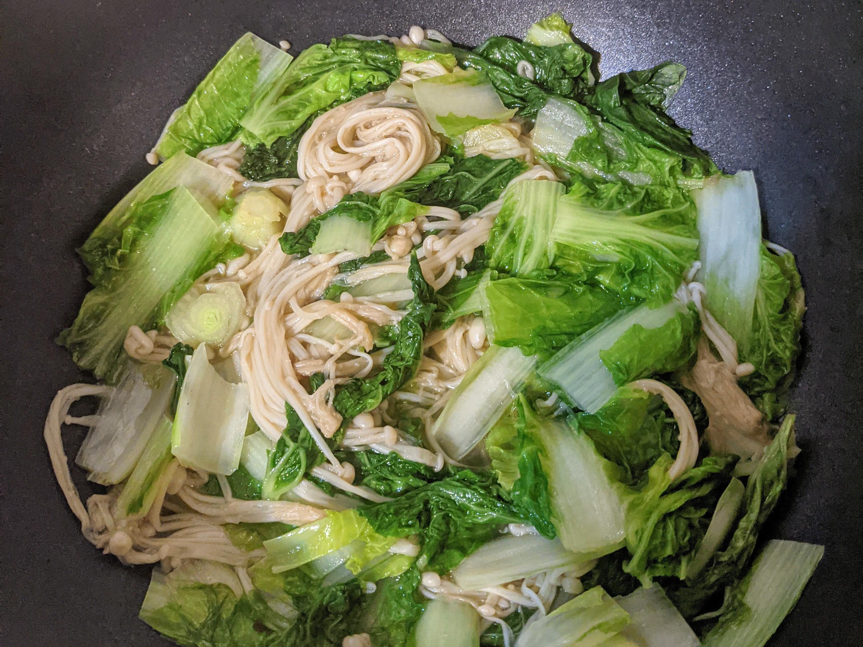 金針菇小白菜