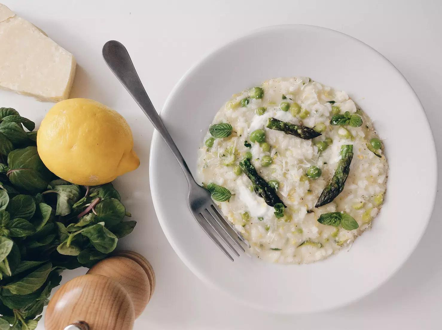 義大利料理│春日摘鮮綠蘆筍燉飯