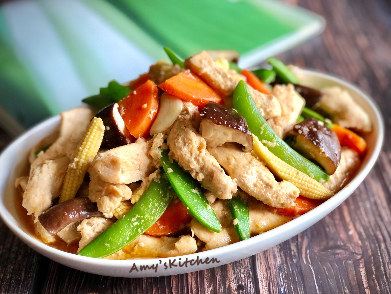 甜豆炒雞柳  (雞胸肉)