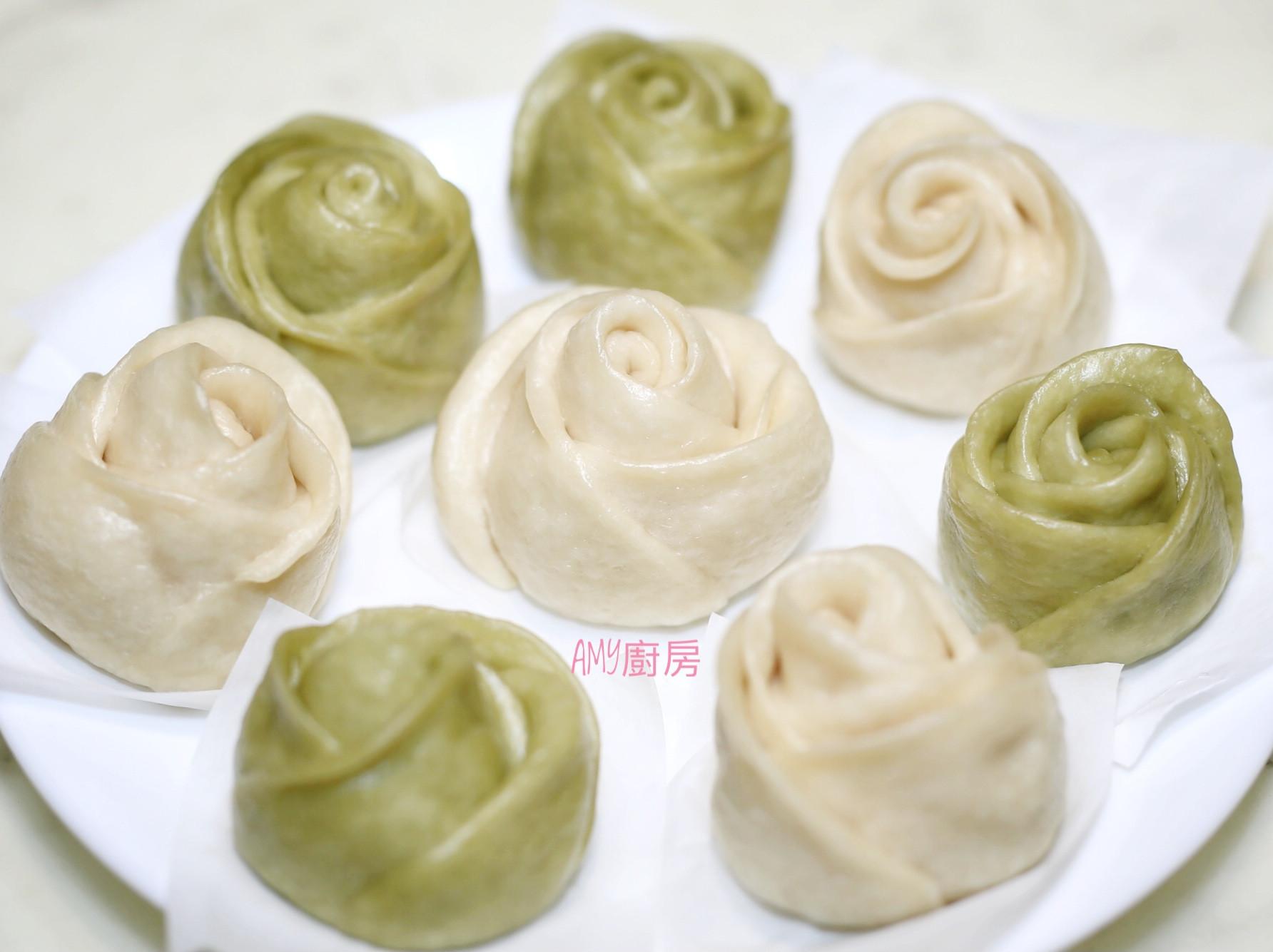 玫瑰花型饅頭